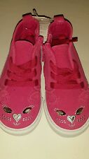 Baby Gap Royal Fuchsia Cat mid-top trainers Shoes NWT Toddler Girls