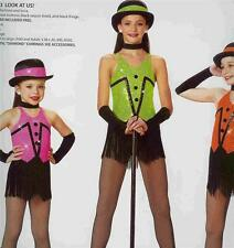 Jazz Dance Costume Tap Skate Pageant Artstone fringe Look At Us