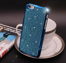Bling Swarovski Element Crystal Diamond Blue Soft case For iphone 6 Plus {zi216