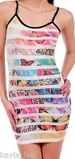 Multi Butterfly Sublimation Cami/Tank Mini Dress S/M/L