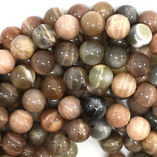 "Multicolor Sunstone Round Beads Gemstone 15.5"" Strand 4mm 6mm 8mm 10mm 12mm"