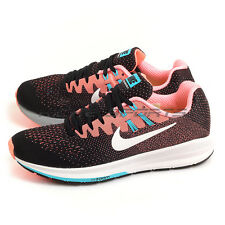 Nike Wmns Air Zoom  Structure 20 Black/White-Lava Glow 849577-001 Running Shoes