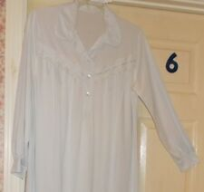 Womens Negligee Long Night Gown & Robe OR Pajamas Pink Blue Ivory  All Sizes