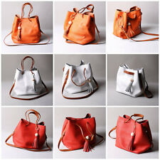 Women Tassel Leather Bag Satchel Handbag Shoulder Tote Messenger Crossbody Bags
