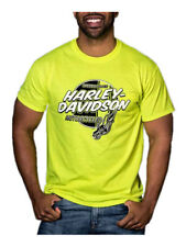 Harley-Davidson Men's Ignite Chest Pocket Short Sleeve T-Shirt, Safety Green
