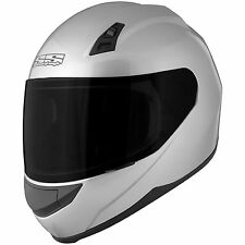 Speed and Strength SS 700 Gloss Silver Full Face Helmet Clear Shield