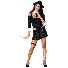 Mafia Princess Gangster Girl Mobster Costume Halloween Fancy Dress