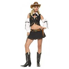 Sexy Cowgirl Costume Adult Western Outfit Halloween Fancy Dress