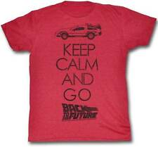 Back To The Future Keep Calm And Go Red Men's T-Shirt S,M,L,XL,2XL