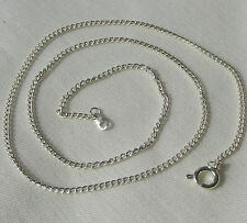 "Jewellery Craft Design - Silver Plated Curb Chain Chains Findings 18"" Packs 6 12"