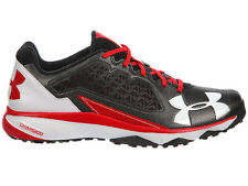 NEW MENS UNDER ARMOUR DECEPTION TRAINER RUNNING SHOES TRAINERS BLACK / RED