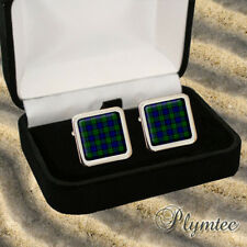 CAMPBELL SCOTTISH CLAN TARTAN MEN'S CUFFLINKS GIFT ENGRAVING