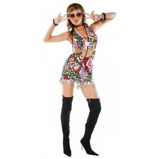 Mod Girl 60s Costume Adult Go Go Dancer Halloween Fancy Dress