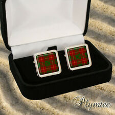 CAMERON SCOTTISH CLAN TARTAN MEN'S CUFFLINKS GIFT  ENGRAVING
