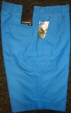 MENS J LINDEBERG LAWRENCE Regular Fit Micro Twill Flat Front Golf SHORTS, BLUE