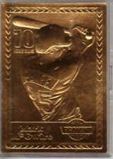 Mark McGwire 1998 Pro Mint 24Kt Gold Card 70th HR on 9/27/98