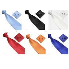 Wedding Party Hanky Cufflinks and Handkerchief Gift Set Woven Silk Tie Set New