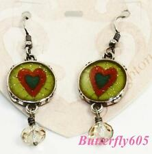 Brighton QUEEN OF HEARTS French Wire Earrings New on card