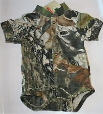 MOSSY OAK CAMOUFLAGE BABY INFANT DIAPER SHIRT - CAMO SNAP SHIRT, CREEPER SS