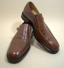 Johnston & Murphy Mens Brown Leather Loafer Shoe Size 8 1/2 M Made in Italy new