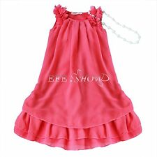 Flower Girl Summer Princess Dress Kid Chiffon Party Wedding Lace Tutu Dresses