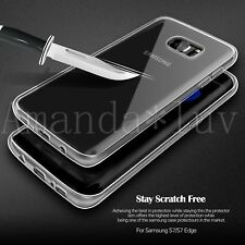 Ultra Thin Silicone Soft Case Cover Screen Protector for Samsung Galaxy Phones