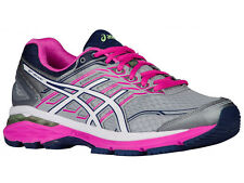 NEW WOMENS ASICS GT-2000 V5 GEL RUNNING SHOES TRAINERS MIDGREY / WHITE / PINK GL