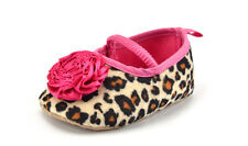 Kids Baby Girls Leopard Shoes Peony Flower Infant Toddler Crib Shoes H&F