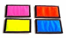 """POLICE FIREFIGHTER ARMY MILITARY REFLECTIVE HOOK BACKING PATCH 3""""- 6"""" X 2"""""""