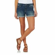 Roxy Denim Shorts - Roxy Rolly Up Denim Shorts  - Dark Blue