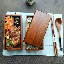 Japanese Double Deck Wood Lunch Box Wooden Bento Lunch Boxes Student shu Food Co