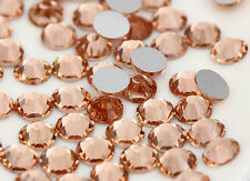 Crystal Glass1440 champagne1.4mm - 7.4mm 14 facets Round Rhinestone Flatback