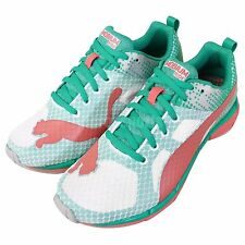 Puma Mobium Ride Wns White Green Pink Womens Running Shoes 187299-01