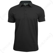 Black QUICKDRY POLO SHIRT - All Sizes - Quality - Quick Dry - Active Top