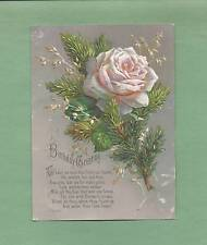 LOVELY ROSE On Beautifully Embossed Victorian Greeting BIRTHDAY Card