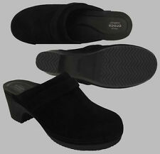 $65 Crocs Women's Sarah Suede Clog Black / Black All Size 6 7 8 910 11 SALE!