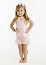 Mud Pie Baby JEWELED Mud Pie Baby SHORT SET 361008 Pretty In Pink Collection