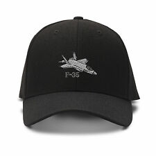F-35 Aircraft Name Embroidery Embroidered Adjustable Hat Cap
