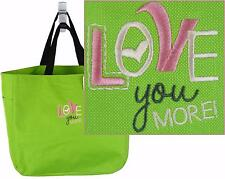 Love You More Essential Tote Bag Monogram Custom Embroidered NWT