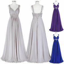 GK Stock Long Chiffon Bridesmaid Prom Formal Party Dress Evening Ball Gown Dress