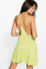 Boohoo Womens Jamie Strappy Back Detail Skater Dress