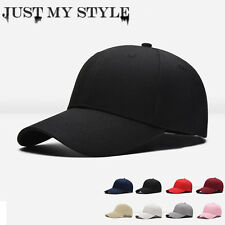 Mens Womens New Black Baseball Cap Snapback Hat Hip-Hop Adjustable Bboy Caps BLK