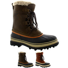 Mens Sorel Caribou Snow WI Winter Fur Lined Mid Calf Warm Leather Boot UK 7-12
