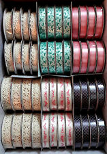 Dovecraft Painted Blooms Ribbons - 2 metre reel - 6 to choose from Satin or Lace