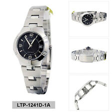 Casio Enticer Ladies Analog Watch Casual Silver Band LTP-1241D-1A