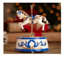 2010 Mr Christmas Animated And Musical Carousel RED Solo Horse Music Box