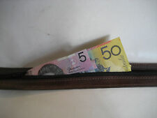LEATHER MONEY BELT (BROWN LEATHER)