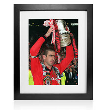 Framed Eric Cantona Signed Manchester United Photo - 1996 FA Cup Winner
