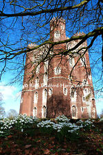Tattershall Castle Snowdrops Photo Print Mounted (10 colours) Greetings Cards