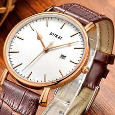 New Ultra-thin Quartz Watches 30M Water Resistant Steel Watch With Calendar O6K1